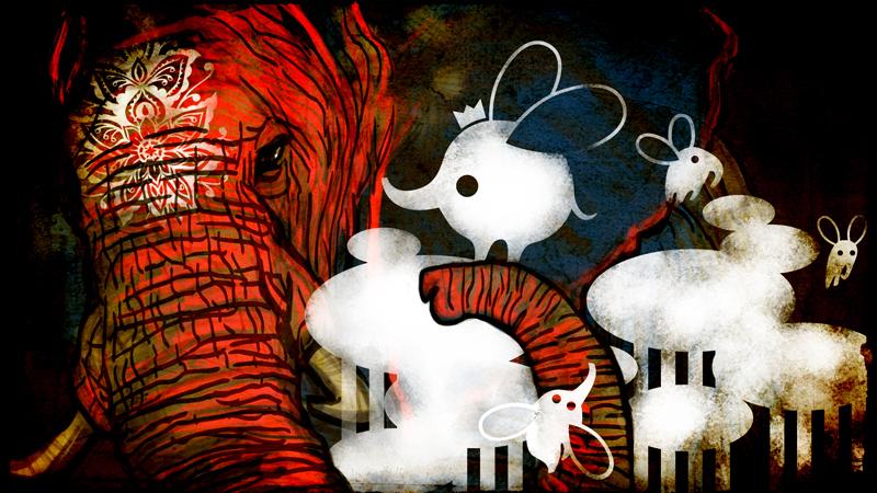 illustration d'élephants