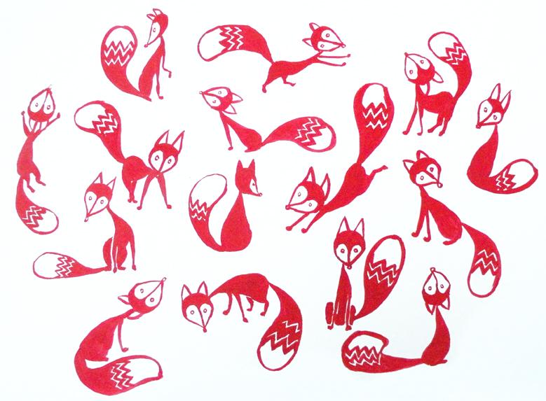 invasion de renards rouges