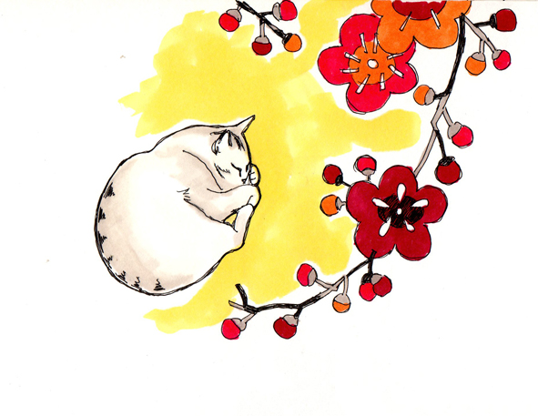 flower-cat-japanese