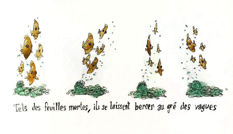poissons-dessin-vagues-aquarelle