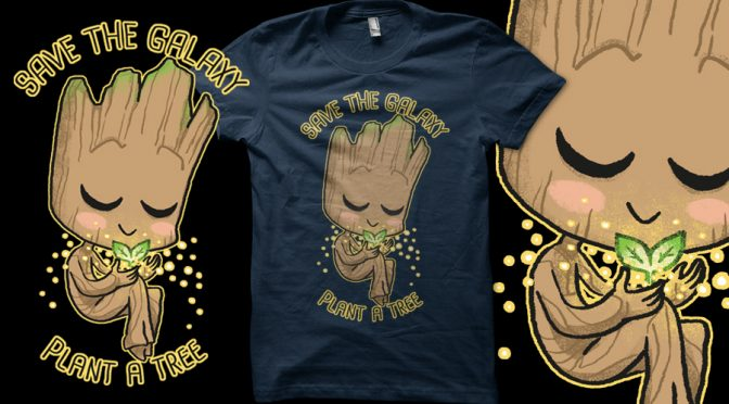 Baby Groot t-shirt design