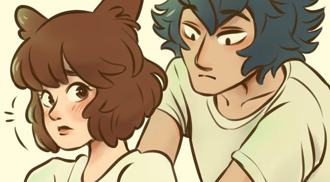Legosi and Juno from manga Beastars
